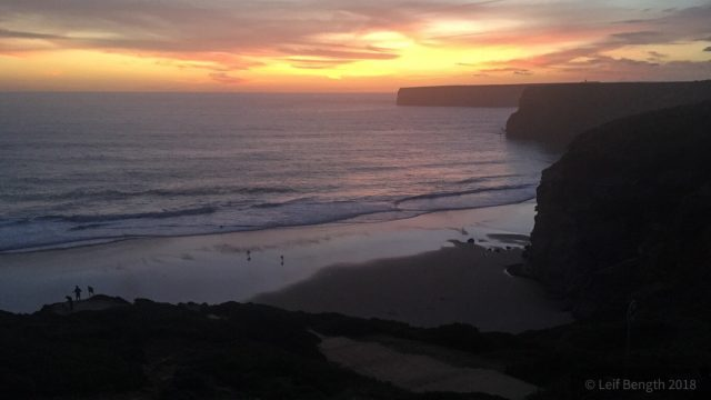 Praian i solnedgång...
