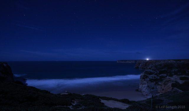 Praian i månljus... (ett framkallningsalternativ i iPad)