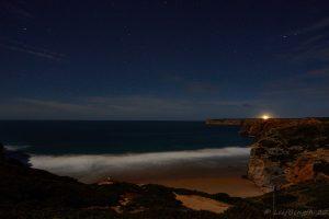 Praia do Beliche i månljus...