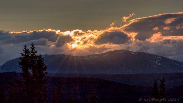Solnedgång bakom Marsfjällen...