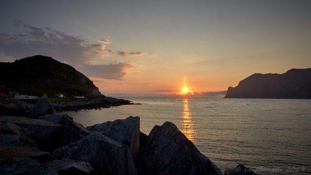 Midnattssol Mefjord, Senja