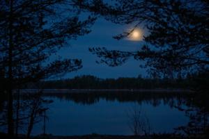 En natt med månen