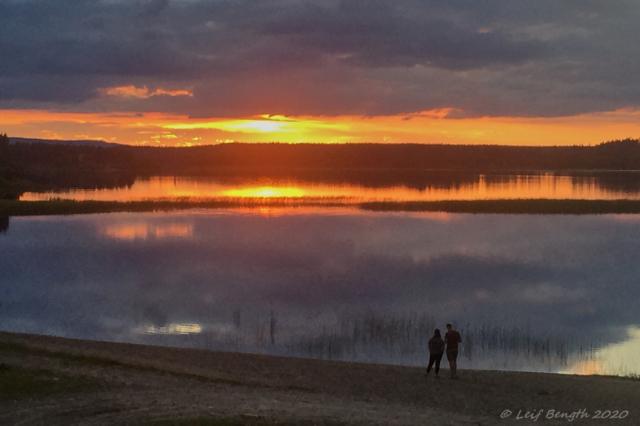 """Solnedgång över """"havet"""", Särna"""