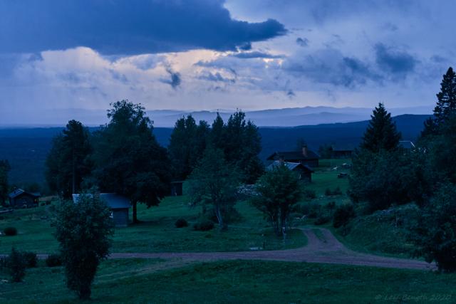 Näsberg, vy mot bergen i sydväst
