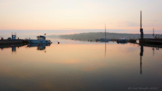 Morgon i Osnäs hamn