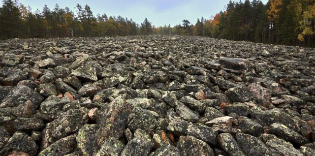 Kivijata stenfält västerut.