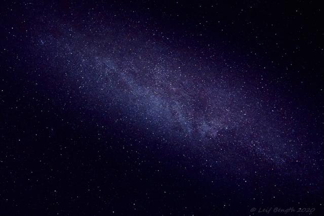 Vintergatan i zenit