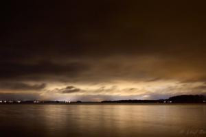 Kvällsljus över Mora