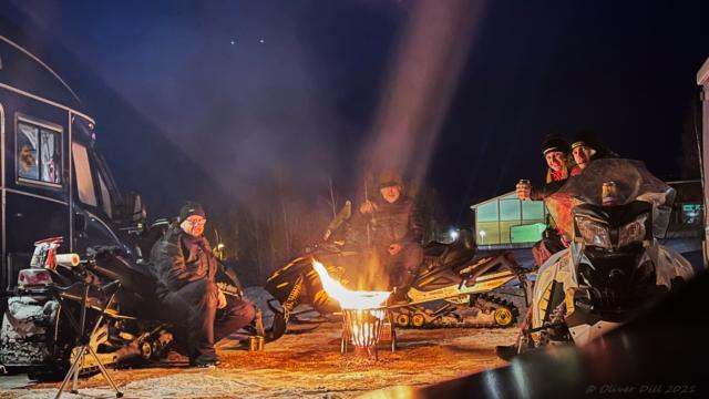 Kvällsmys på Särna Camping