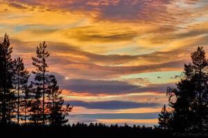 Solnedgång vid Kringelfjorden