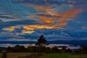 Solnedgång över Orsasjön...