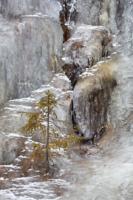 Ljotbjärs isfall i tidig vinter