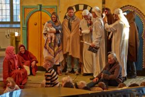 Barnens julkrubba i Orsa kyrka...